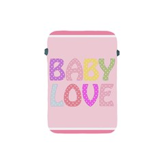 Pink Baby Love Text In Colorful Polka Dots Apple Ipad Mini Protective Soft Cases by Simbadda