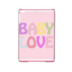 Pink Baby Love Text In Colorful Polka Dots Ipad Mini 2 Hardshell Cases by Simbadda