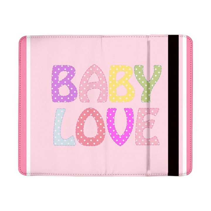 Pink Baby Love Text In Colorful Polka Dots Samsung Galaxy Tab Pro 8.4  Flip Case