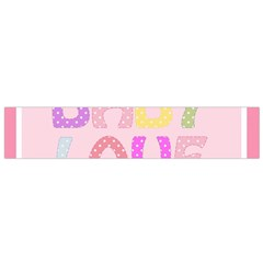 Pink Baby Love Text In Colorful Polka Dots Flano Scarf (small) by Simbadda