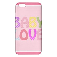 Pink Baby Love Text In Colorful Polka Dots Iphone 6 Plus/6s Plus Tpu Case by Simbadda