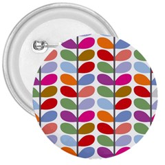 Colorful Bright Leaf Pattern Background 3  Buttons