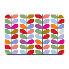 Colorful Bright Leaf Pattern Background Plate Mats