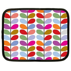 Colorful Bright Leaf Pattern Background Netbook Case (xl)  by Simbadda