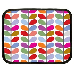 Colorful Bright Leaf Pattern Background Netbook Case (xxl)