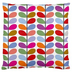 Colorful Bright Leaf Pattern Background Large Cushion Case (one Side) by Simbadda