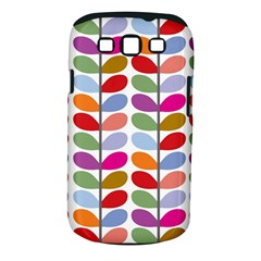Colorful Bright Leaf Pattern Background Samsung Galaxy S Iii Classic Hardshell Case (pc+silicone)