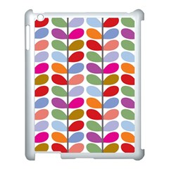 Colorful Bright Leaf Pattern Background Apple Ipad 3/4 Case (white)