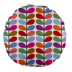 Colorful Bright Leaf Pattern Background Large 18  Premium Round Cushions by Simbadda