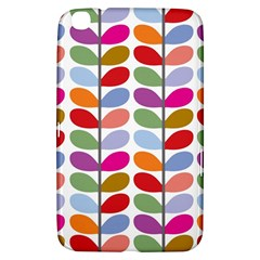 Colorful Bright Leaf Pattern Background Samsung Galaxy Tab 3 (8 ) T3100 Hardshell Case  by Simbadda