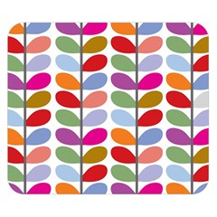 Colorful Bright Leaf Pattern Background Double Sided Flano Blanket (small)  by Simbadda