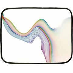 Abstract Ribbon Background Fleece Blanket (mini) by Simbadda