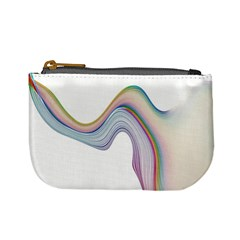Abstract Ribbon Background Mini Coin Purses