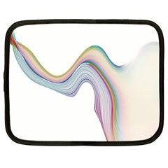 Abstract Ribbon Background Netbook Case (xl)  by Simbadda