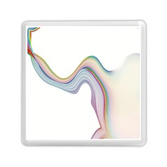 Abstract Ribbon Background Memory Card Reader (square)