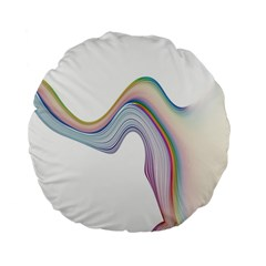 Abstract Ribbon Background Standard 15  Premium Round Cushions