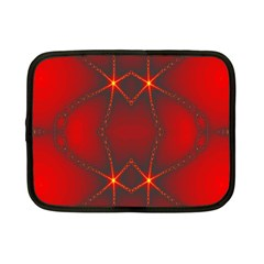 Impressive Red Fractal Netbook Case (small)  by Simbadda