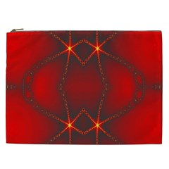 Impressive Red Fractal Cosmetic Bag (xxl)  by Simbadda