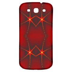Impressive Red Fractal Samsung Galaxy S3 S Iii Classic Hardshell Back Case by Simbadda