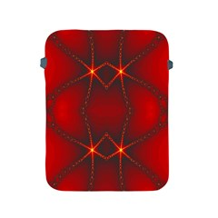 Impressive Red Fractal Apple Ipad 2/3/4 Protective Soft Cases by Simbadda
