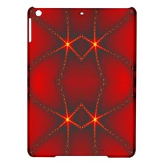 Impressive Red Fractal Ipad Air Hardshell Cases by Simbadda