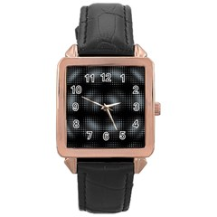Circular Abstract Blend Wallpaper Design Rose Gold Leather Watch