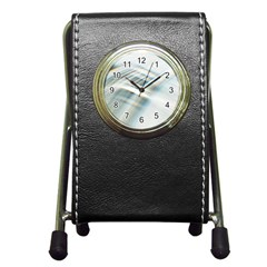 Business Background Abstract Pen Holder Desk Clocks by Simbadda
