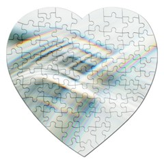 Business Background Abstract Jigsaw Puzzle (heart) by Simbadda