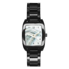 Business Background Abstract Stainless Steel Barrel Watch by Simbadda