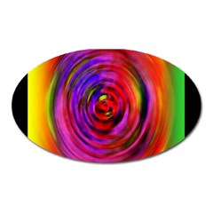 Colors Of My Life Oval Magnet by Simbadda