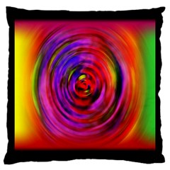 Colors Of My Life Large Cushion Case (two Sides) by Simbadda