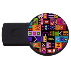 Abstract A Colorful Modern Illustration Usb Flash Drive Round (4 Gb) by Simbadda