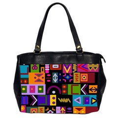 Abstract A Colorful Modern Illustration Office Handbags (2 Sides)  by Simbadda