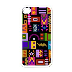 Abstract A Colorful Modern Illustration Apple Iphone 4 Case (white) by Simbadda