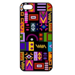 Abstract A Colorful Modern Illustration Apple Iphone 5 Seamless Case (black) by Simbadda