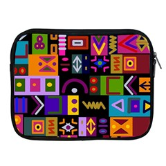 Abstract A Colorful Modern Illustration Apple Ipad 2/3/4 Zipper Cases by Simbadda