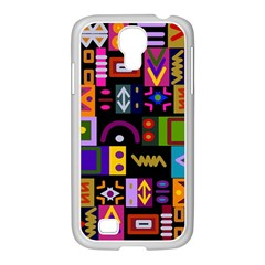 Abstract A Colorful Modern Illustration Samsung Galaxy S4 I9500/ I9505 Case (white) by Simbadda