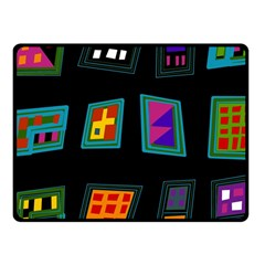 Abstract A Colorful Modern Illustration Fleece Blanket (small) by Simbadda