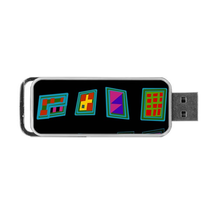 Abstract A Colorful Modern Illustration Portable USB Flash (Two Sides)