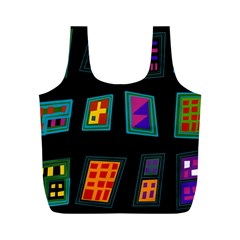 Abstract A Colorful Modern Illustration Full Print Recycle Bags (m)