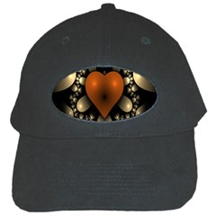Fractal Of A Red Heart Surrounded By Beige Ball Black Cap