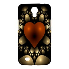 Fractal Of A Red Heart Surrounded By Beige Ball Samsung Galaxy Mega 6 3  I9200 Hardshell Case