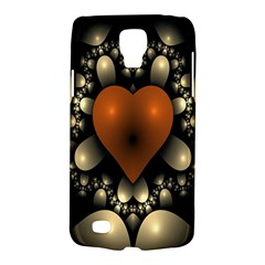 Fractal Of A Red Heart Surrounded By Beige Ball Galaxy S4 Active by Simbadda