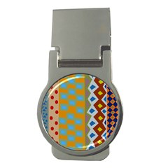 Abstract A Colorful Modern Illustration Money Clips (round)