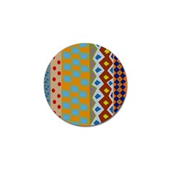 Abstract A Colorful Modern Illustration Golf Ball Marker (4 Pack)