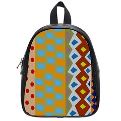Abstract A Colorful Modern Illustration School Bags (small)  by Simbadda