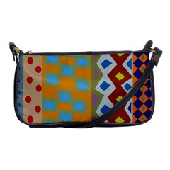Abstract A Colorful Modern Illustration Shoulder Clutch Bags by Simbadda