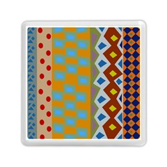 Abstract A Colorful Modern Illustration Memory Card Reader (square)