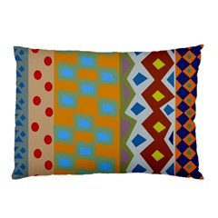 Abstract A Colorful Modern Illustration Pillow Case (two Sides) by Simbadda