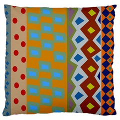 Abstract A Colorful Modern Illustration Large Cushion Case (two Sides) by Simbadda
